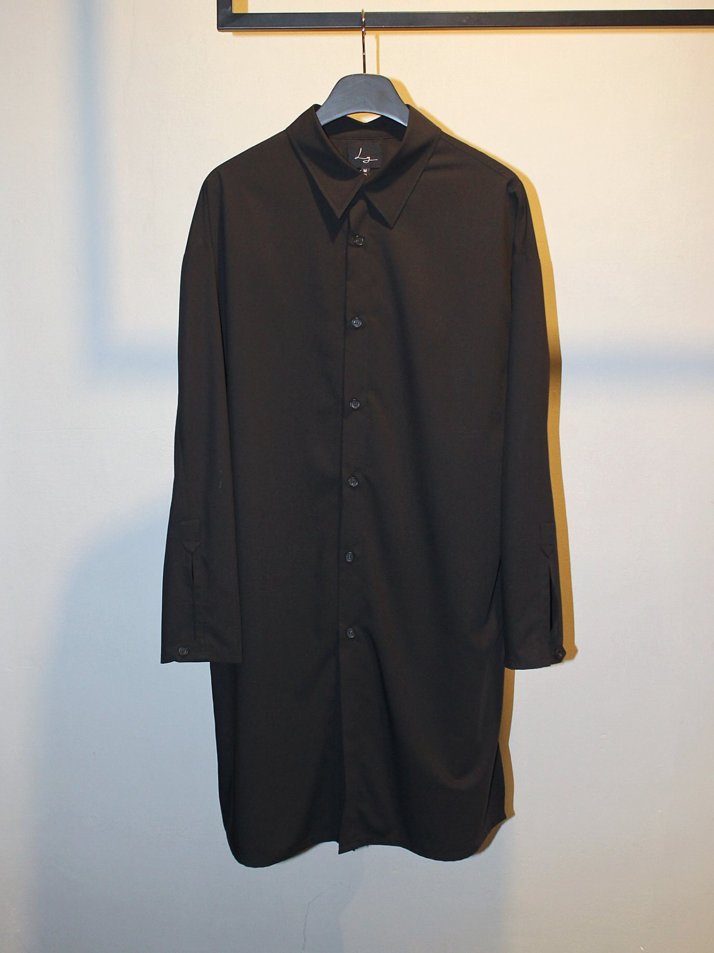 [Log] Long Tunic Shirt - Black