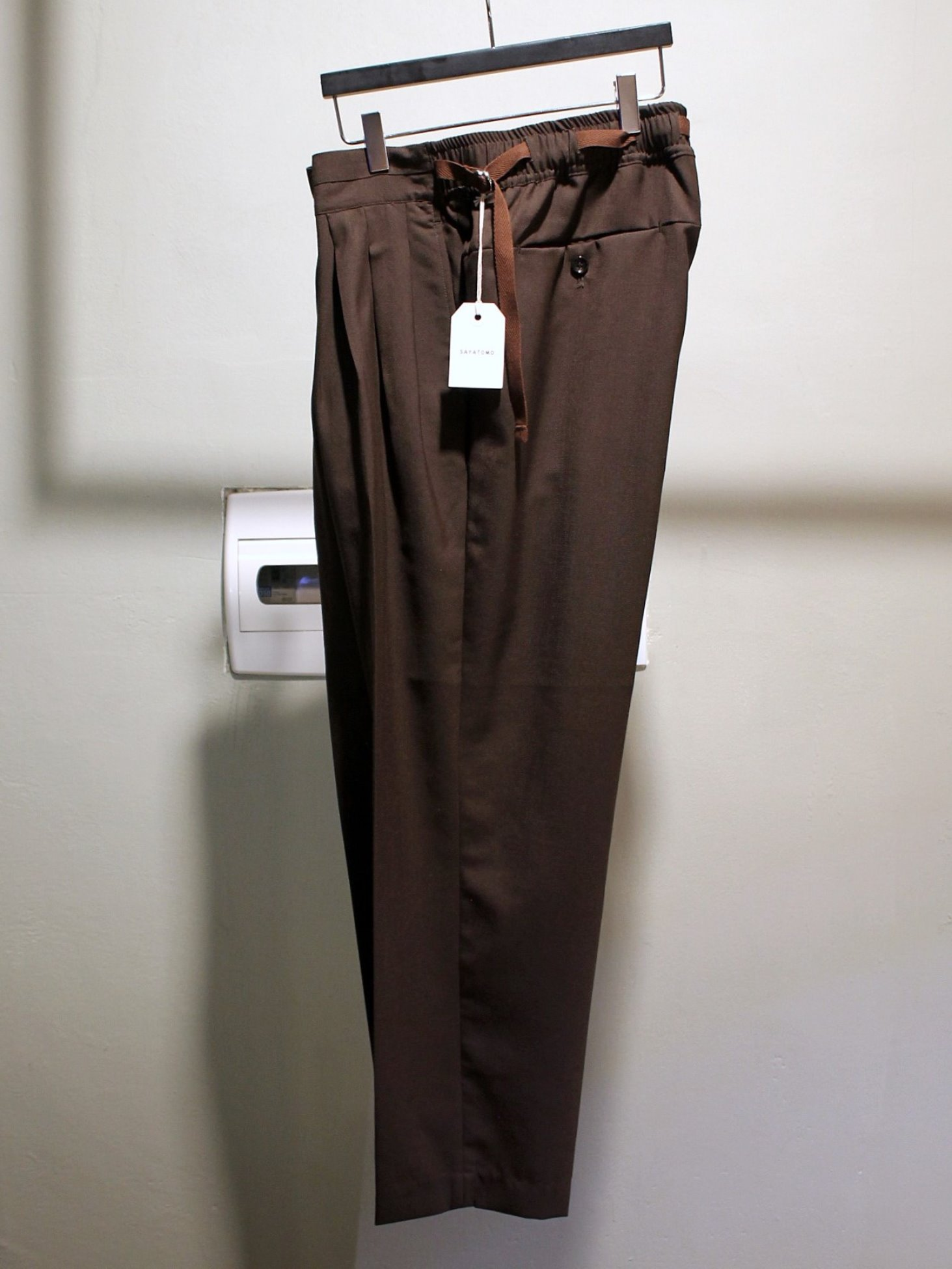 [SAYATOMO] Hakama Slacks (Brown)