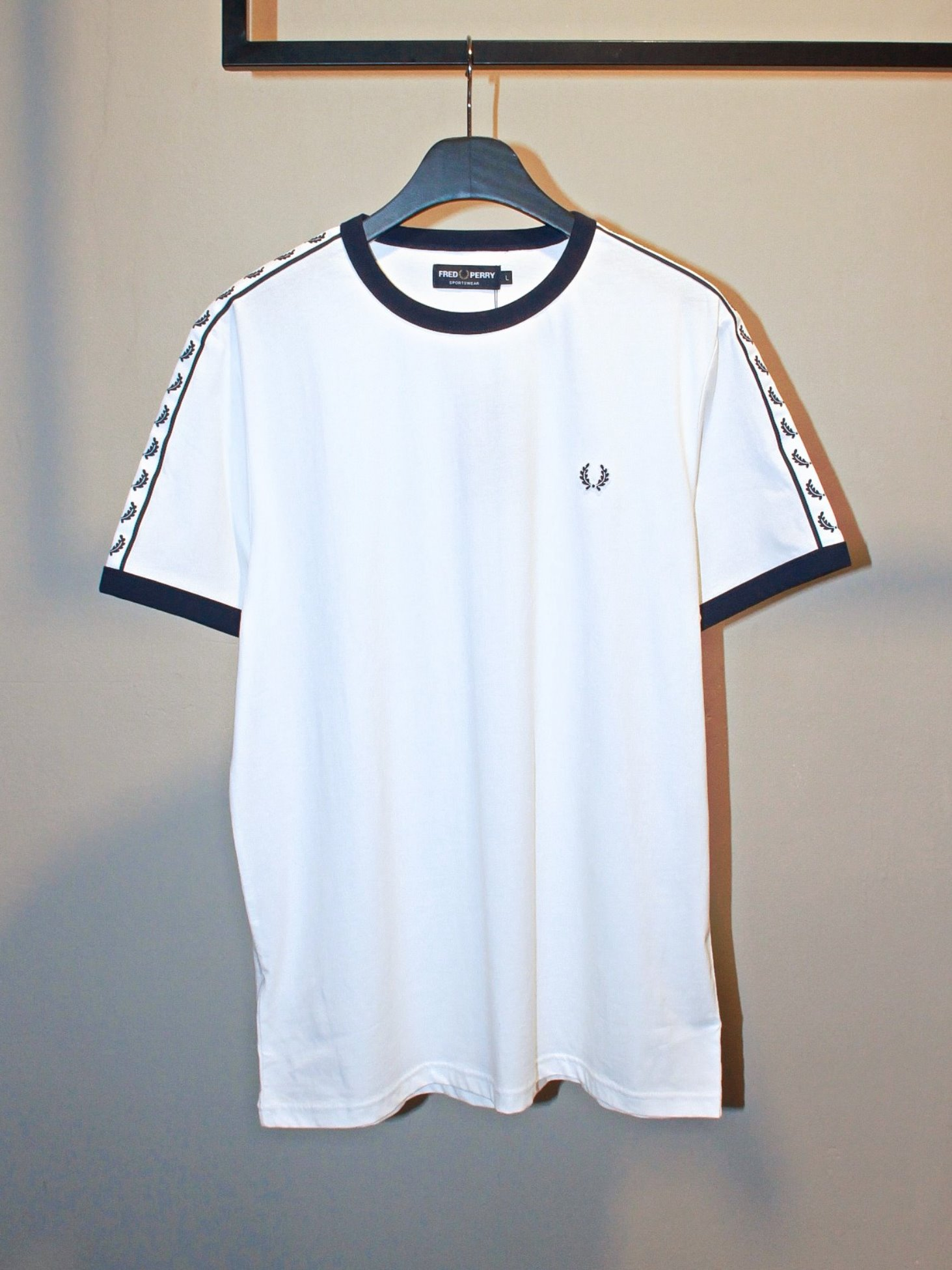 [Fred Perry] Taped Ringer T-Shirt - Snow White