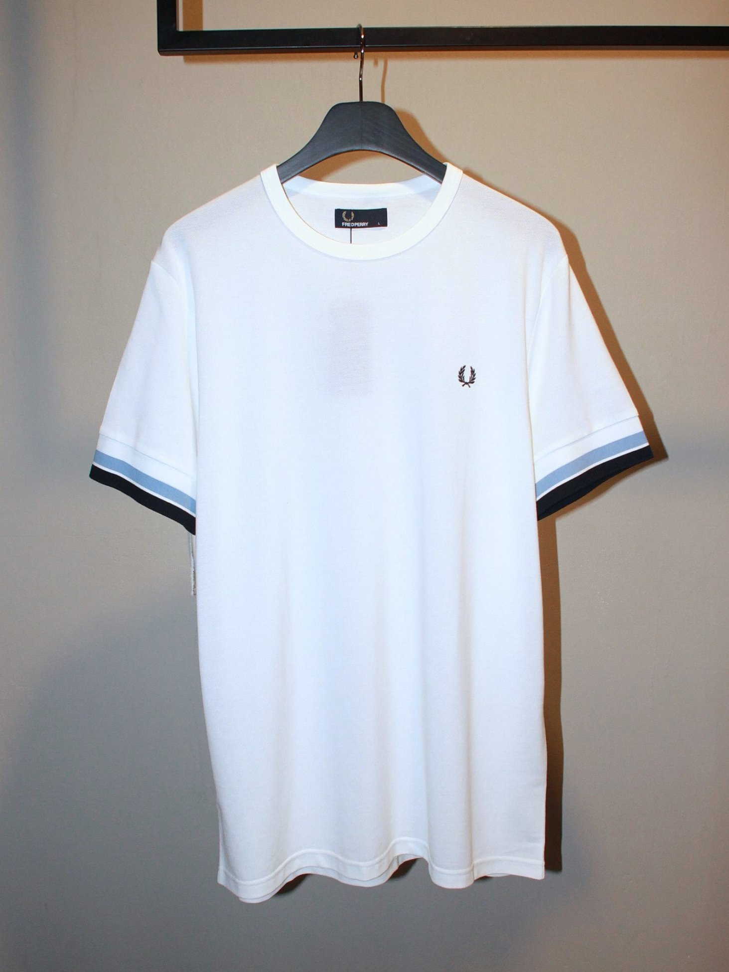 [Fred Perry] Bold Tipped T-Shirt - Snow White