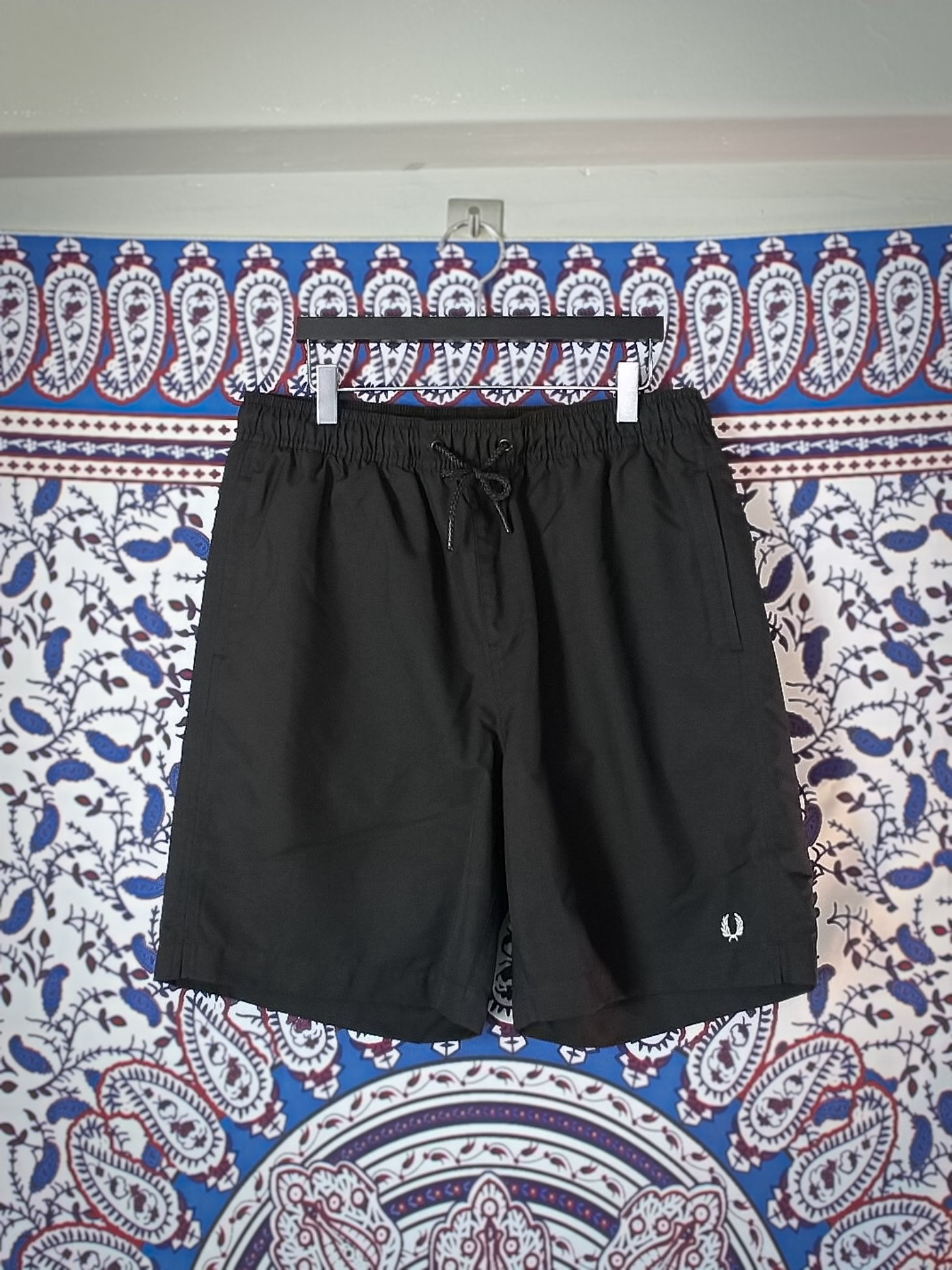 [Fred Perry] Textured Swimshort - Black