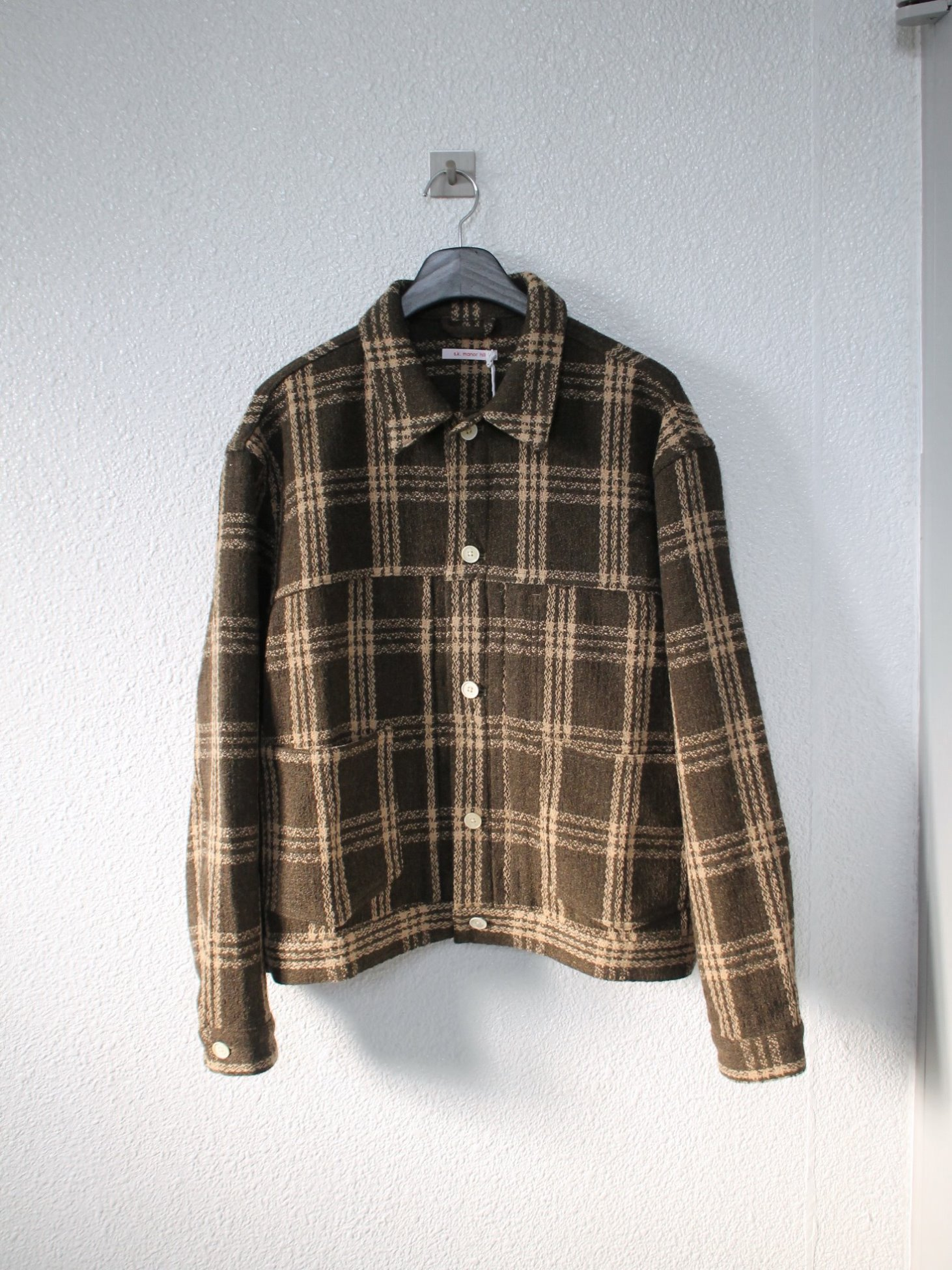 [s.k. manor hill] Type 100 Jacket - Brown Plaid