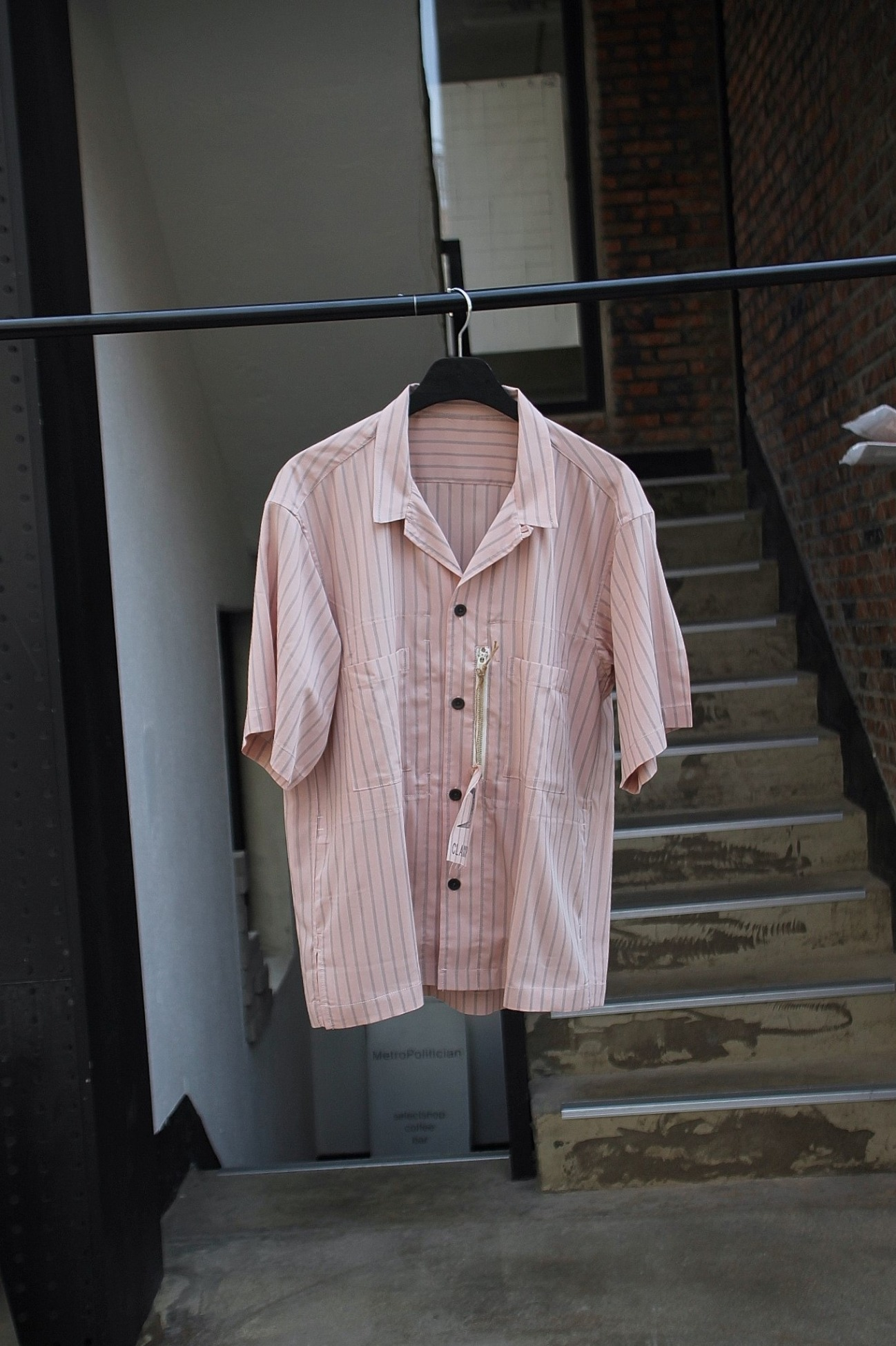 [CLAMP] 6 Pocket S/S Shirt - Pink