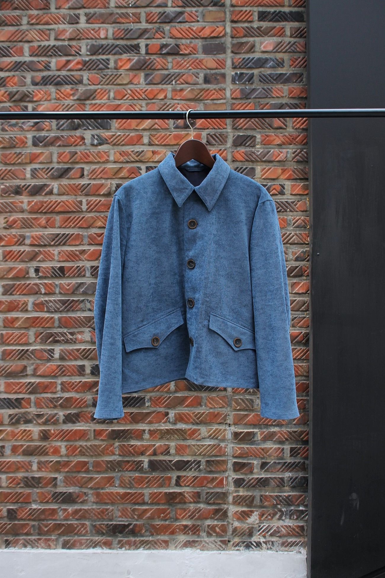 [An Irrational Element] Short Army Jacket - Blue