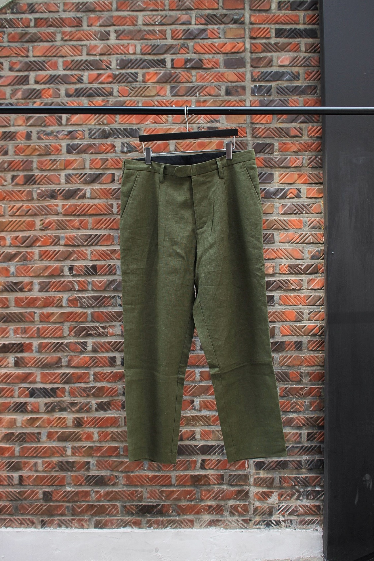 [An Irrational Element] Simple Trouser - Olive