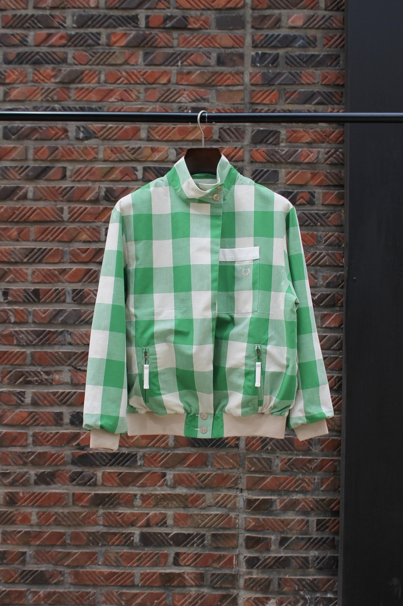 [FRED PERRY] Akane Check Harrington Jacket - Akane Check