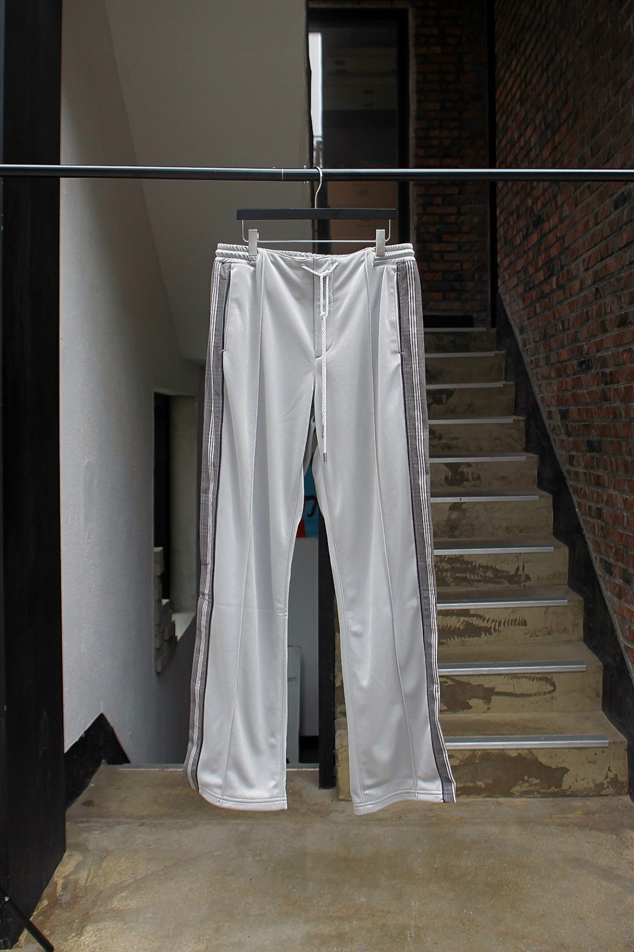 [Name.] Tricot Track Pants - Light Gray