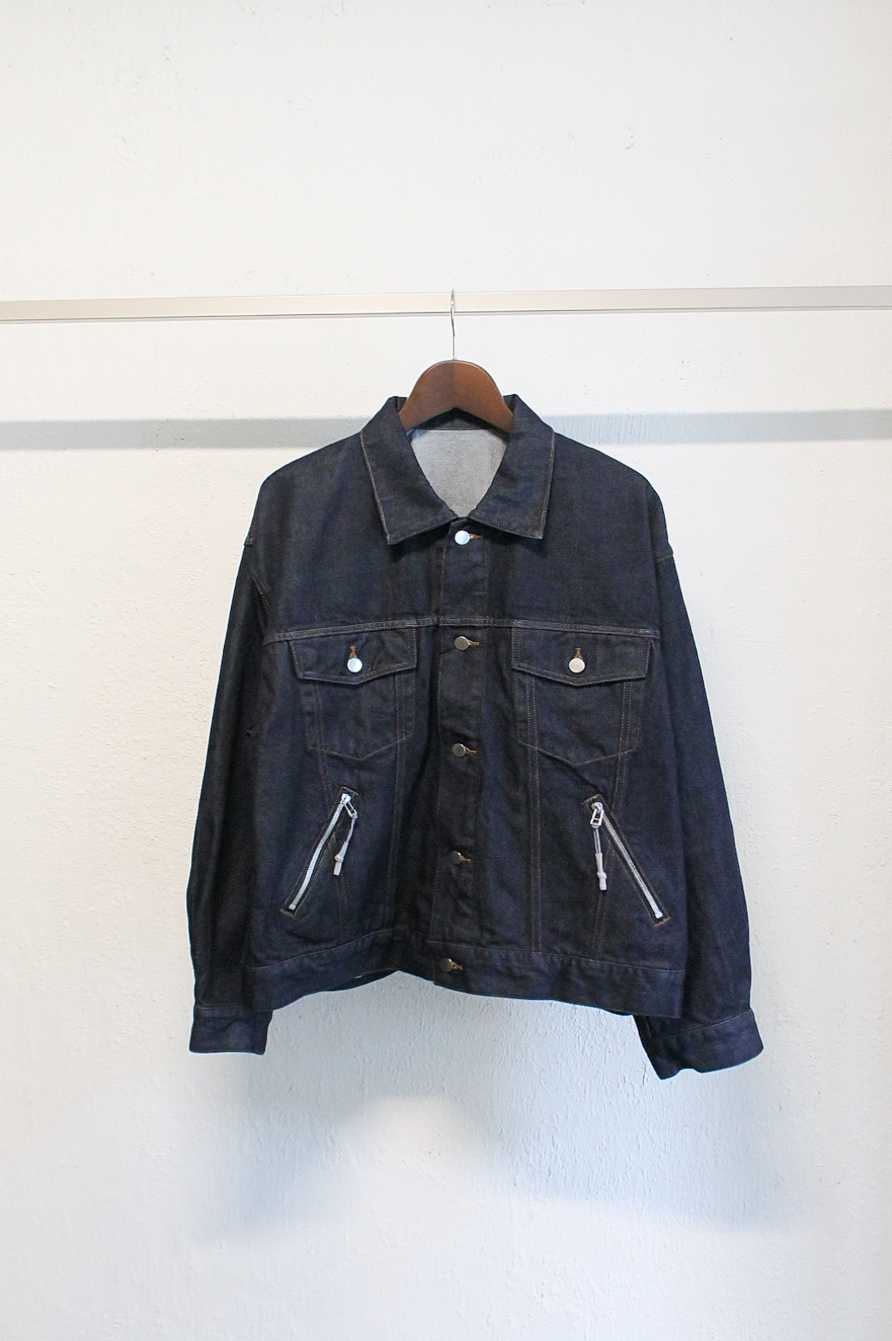 [Name.] Denim Trucker Jacket - Indigo