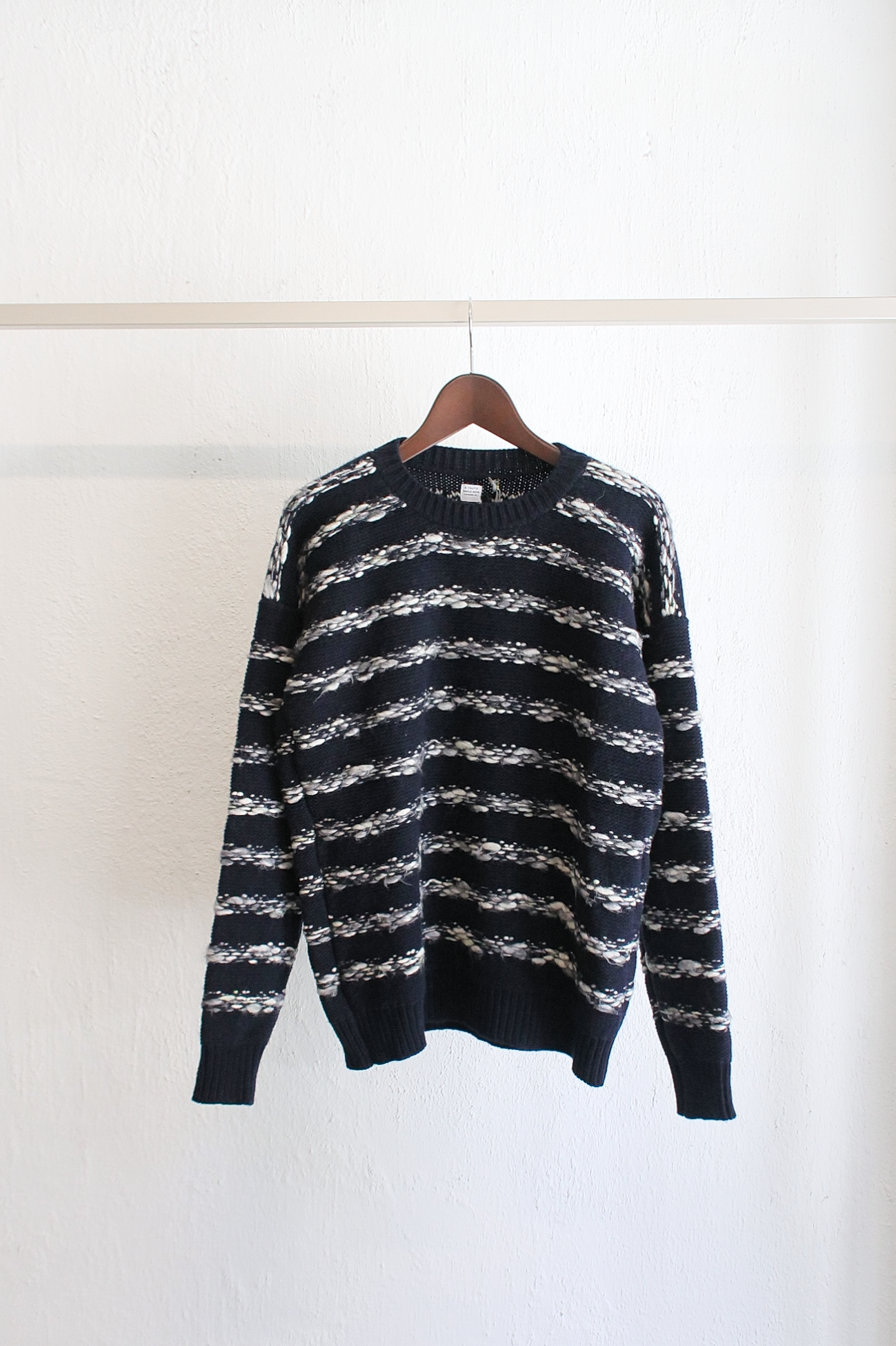 [E.TAUTZ] Crewneck Jumper - Navy/White Stripe
