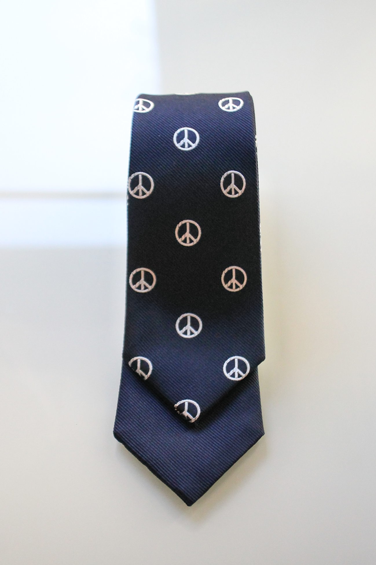 [KENNETH FIELD] 4 Face Tie - Navy/White